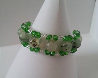 Prehnite Hara Bracelet
