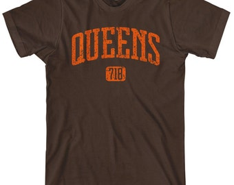 Queens 718 T-shirt - Men and Unisex - XS S M L XL 2x 3x 4x - Queens New York Tee - NYC - 4 Colors