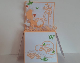 The shopping addict pop-up card