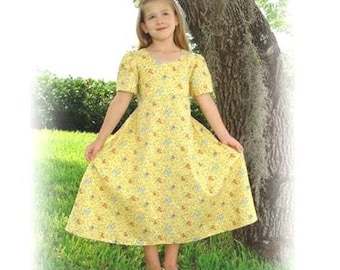 Classic A-line Dress Pattern (Child Sizes) with FREE Video Tutorial