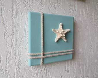 Coastal wall hanging decoration - Beach style wall decor - Starfish decorations - Beach house decor