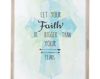 Christian Wall Art - Faith Bigger Than Fear