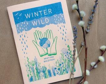 Winter Wild - Plant Zine Comic Risograph Handmade