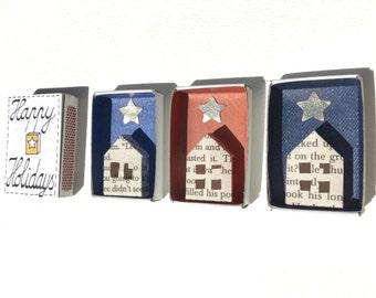 Handmade Diorama, House Diorama, Matchbox Diorama, Christmas Ornament, Holiday Ornament, Matchbox Art