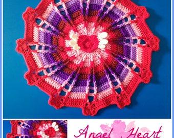 Angel Heart Mandala pdf crochet pattern