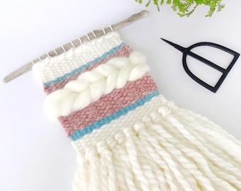 Mini Weave/Customize/Woven Wall Hanging/Weaving/Home Decor/Nursery Decor/Weaving/Decor/Gifts for Her/Bridal Shower/Fiber Art/Botanical/Boho