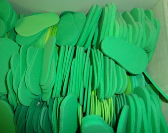 7 Pairs of GREEN- 6mm Foam Shoe Soles- for 18 inch Dolls -Makes 7 pairs of shoes for 18 inch dolls- such as the American Girl Dolls
