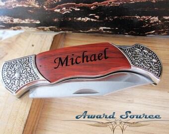 Groomsmen Gifts 10 Engraved Pocket Knife  - Groomsman Best Man Ring Bearer Gift
