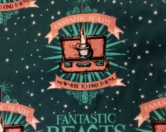 Fantastic beasts fabric and where to find them fabric Harry Potter universe fabric