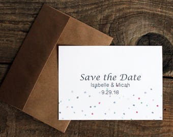 confetti polka dots wedding save the dates - 50 save the date cards