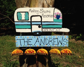 Personalized camping sign