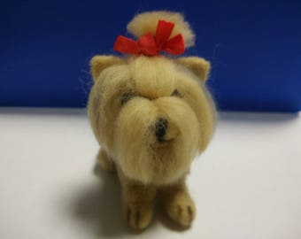 Needle felted dog Felt toy Yorkshire Terrier custom pet Portrait needle felted dog sculpture memorial miniaturer Yorkie
