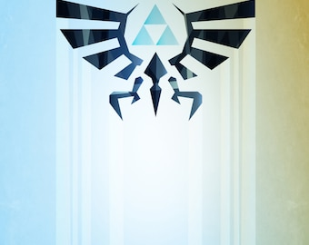 Legend of Zelda Hyrule Rising Poster - signed museum quality giclée fine art print