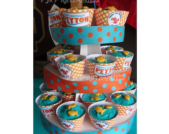 Finding Nemo themed Cupcake Wrappers- Customized Digital File