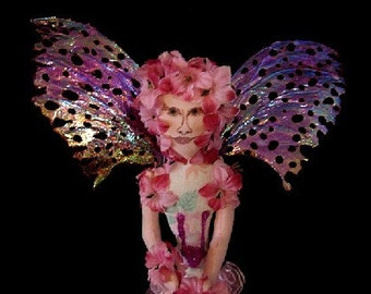 Fairy Art Doll-Pink Passion-Ooak (Made to Order by Request)