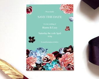 Save The Date Wedding Cards in Spring Orient