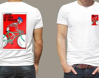 Bicycle Life - Bike riding t shirt Ciclismo Livin' la vida en pedales