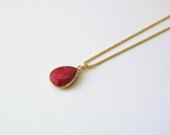 Necklace fancy Ruby [silver plated]