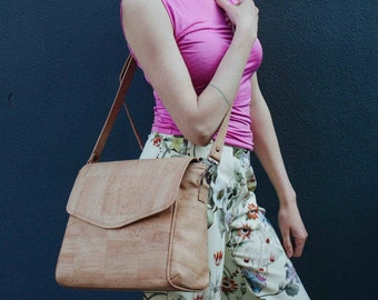 Large cork crossbody bag - Butler