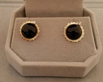 Solar Eclipse Earrings 2017 14k Gold - With or Without Diamonds