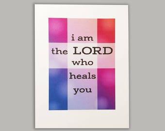 Lord Your Healer Get Well Card//Greeting Card//Get Well Card//Scripture Verse Card//Christian Card//Beautiful card//Bible verse card