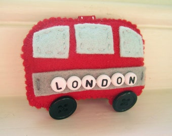 London Bus Feltie porte-clé breloque