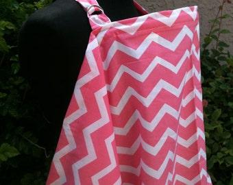 Nursing Cover, Breastfeeding Feeding Cover up, Nursing cover up, Peach Pink ChevronBreastfeeding Cover