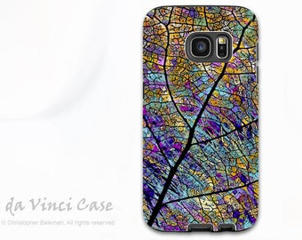 Colorful Aspen Leaf Galaxy S7 Case - Beautiful Dual Layer Case for Samsung Galaxy S7 with Abstract Art - Stained Aspen - by Da Vinci Case