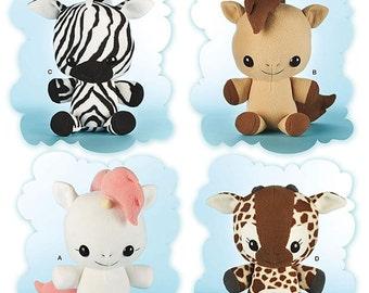 Simplicity Sewing Pattern 8034 Animal Stuffies