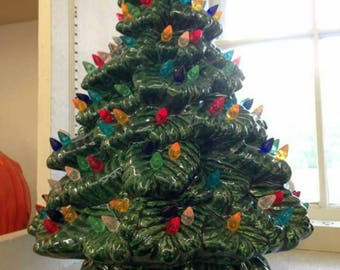 SALE! Ceramic Christmas Tree - Ceramic Tree 15.5 inches - Sierra - Ceramic Tree - Large Ceramic Tree - Christmas Tree w/ lights