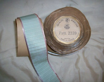 Pastel aqua and lilac antique ribbon