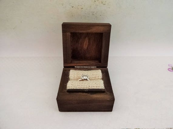 Will You Marry Me Proposal Ring Box Small Wooden Engagement