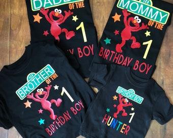 Elmo shirts. Elmo birthday party. Family shirts. Sesame Street.