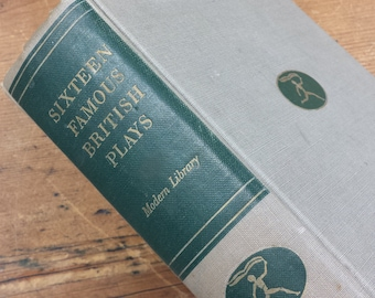 16 Famous British Plays compiled by Bennett Cerf & Van Cartmell, 1942 Random House