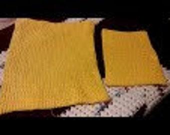 100% Cotton Rectangle double layered potholder