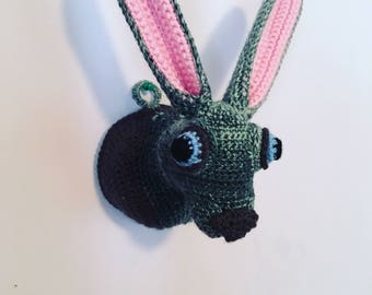 Crochet Taxidermy Hare