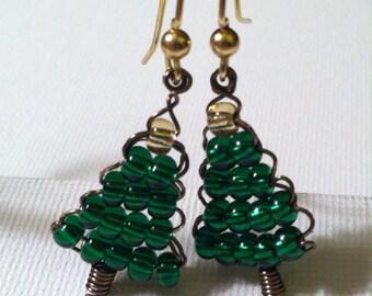 Sweet Little Christmas Tree Earrings