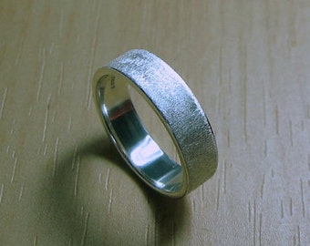 Mens or Women's Wedding Band, 5mm, satin matte finish, Made to Order