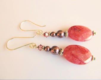 Earrings Burgundy Strawberry