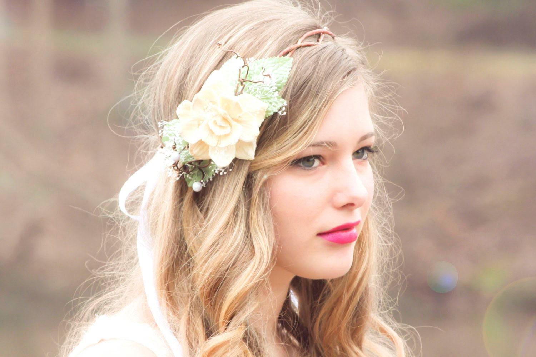 boho wedding wreath floral headpiece bridal flower crown