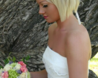 Matching Bridal Accessories Set, Headpiece Sash Bracelet Elsie Collection- Bridal Accessories, Wedding Set