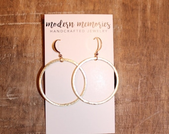 Gold Hoop Earrings | Gold Hoops, Hoop Earrings, Gold Earrings, Gold Statement Earrings, Simple Gold Hoops, Thin Hoops