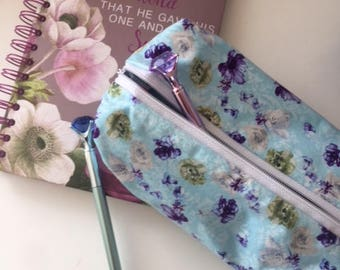 FREE SHIPPING, Make up bag, Penicl case, Back to school gift, Back to school, school supplies, school, Handmade, Birthday gift, Gifts,