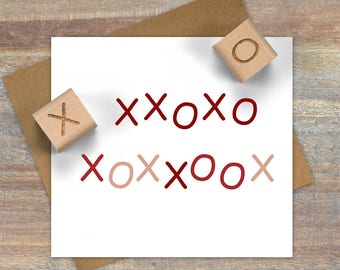 Tiny X & O Stamp Set, Hugs and Kisses Stamp Set, Valentine Stamps, Stationary Stamps, Love Stamp, Kiss Rubber Stamp, DIY Gift Wrap Stamp 092