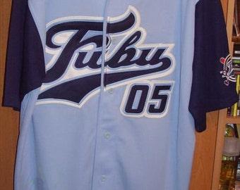 FUBU t-shirt, jersey, vintage of 90s hip-hop clothing, sewn, old school 1990s OG, gangsta rap, size XL