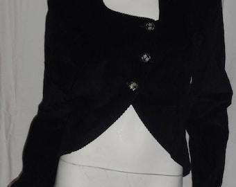 Velvet jacket black velvet ribbed black thick ribs