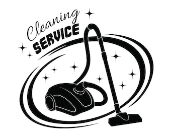 Cleaning Logo #21 Maid Service Housekeeper Housekeeping Clean Vacuum Mop Floor Laundry .SVG .EPS .PNG Clipart Vector Cricut Cutting Download