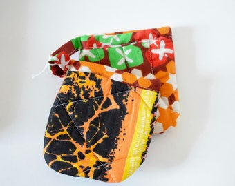 African Fabric Kitchen Pot Holders - Star/Ashes Fabric Pot Holders - Kitchen Ustensiles - Pot Holders UK - African Wax Fabric Pot Holders