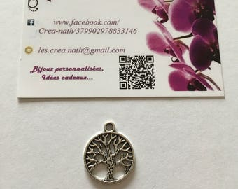 2 silver tree of life charms