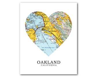 Oakland ca map Etsy